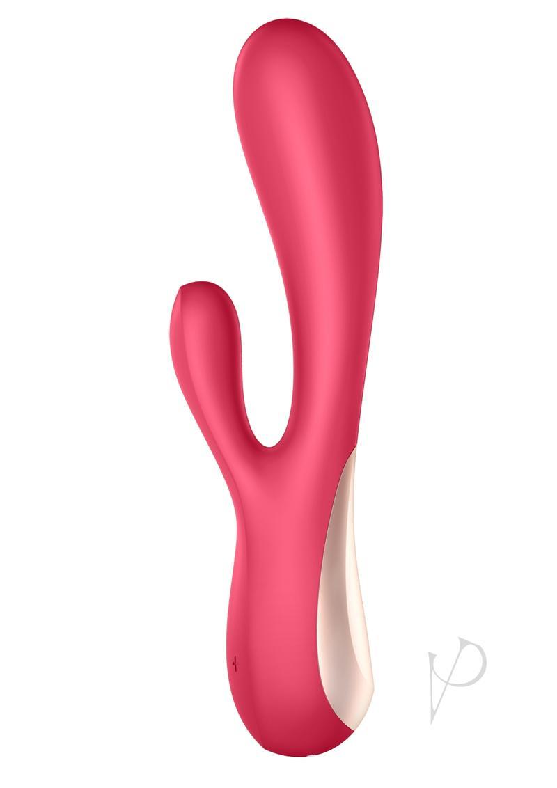 Satisfyer Mono Flex Rechargeable Silicone Rabbit Vibrator - Red